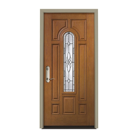 Pella Center Arch Light Entry Door with Glass